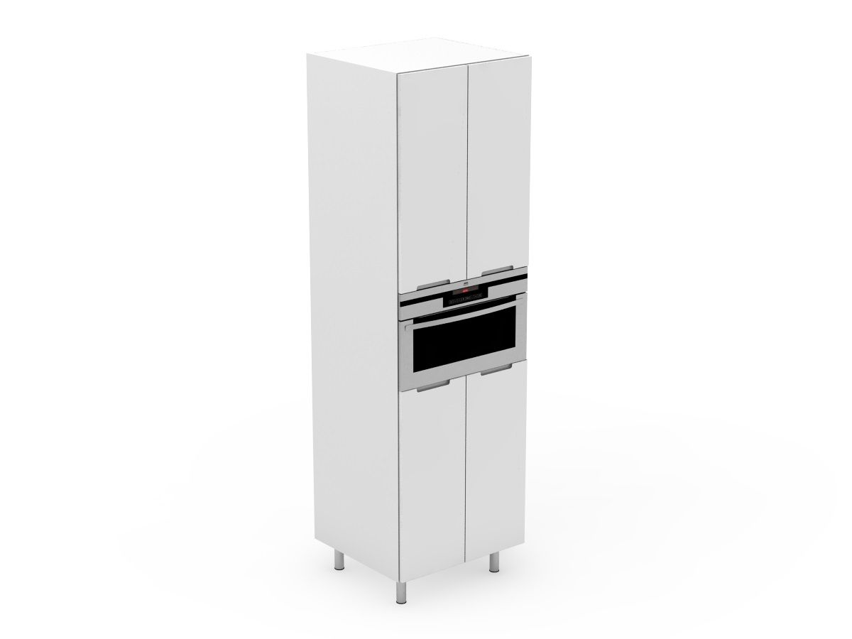 INTEGRATED HANDLE - APPLIANCE TOWER - 4 DOORS WITH THE MICROWAVE IN THE CENTRE (AP600-4MW)