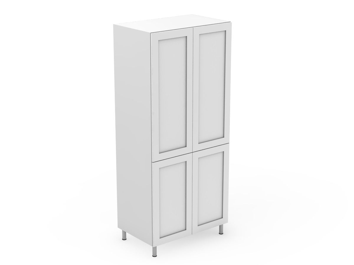 SHAKER - 4 DOOR PANTRY - SPLIT AT BENCHTOP HEIGHT (P400-4SDB)