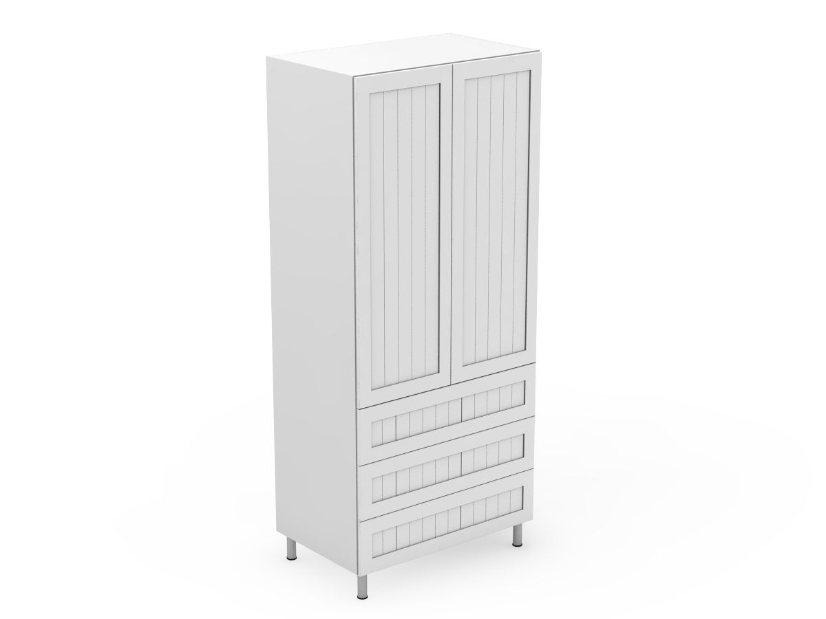 PROVINCIAL - 2 DOOR PANTRY WITH 3 POT DRAWERS (AT600-RD3MB)