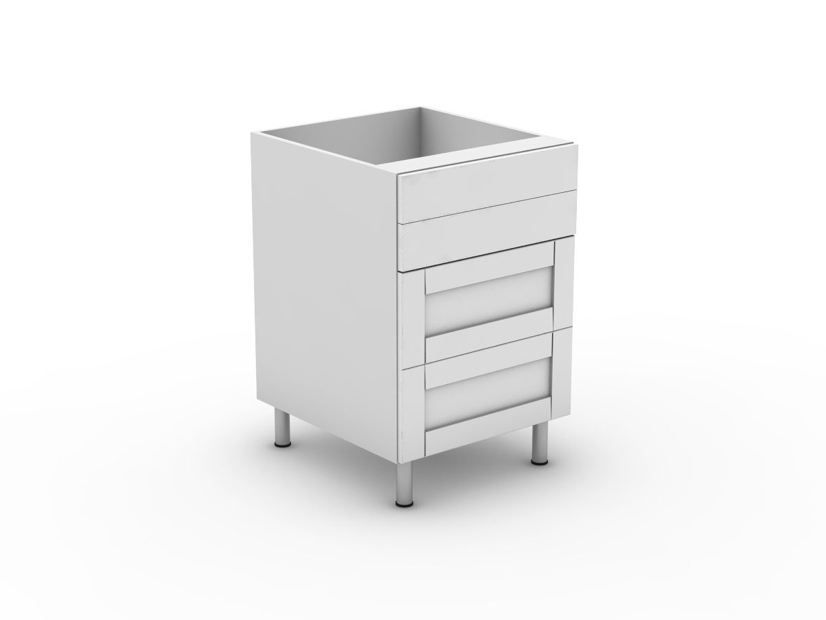 HAMPTION - 4 DRAWERS - 2 SMALL + 2 POT (B3002S2PMB)