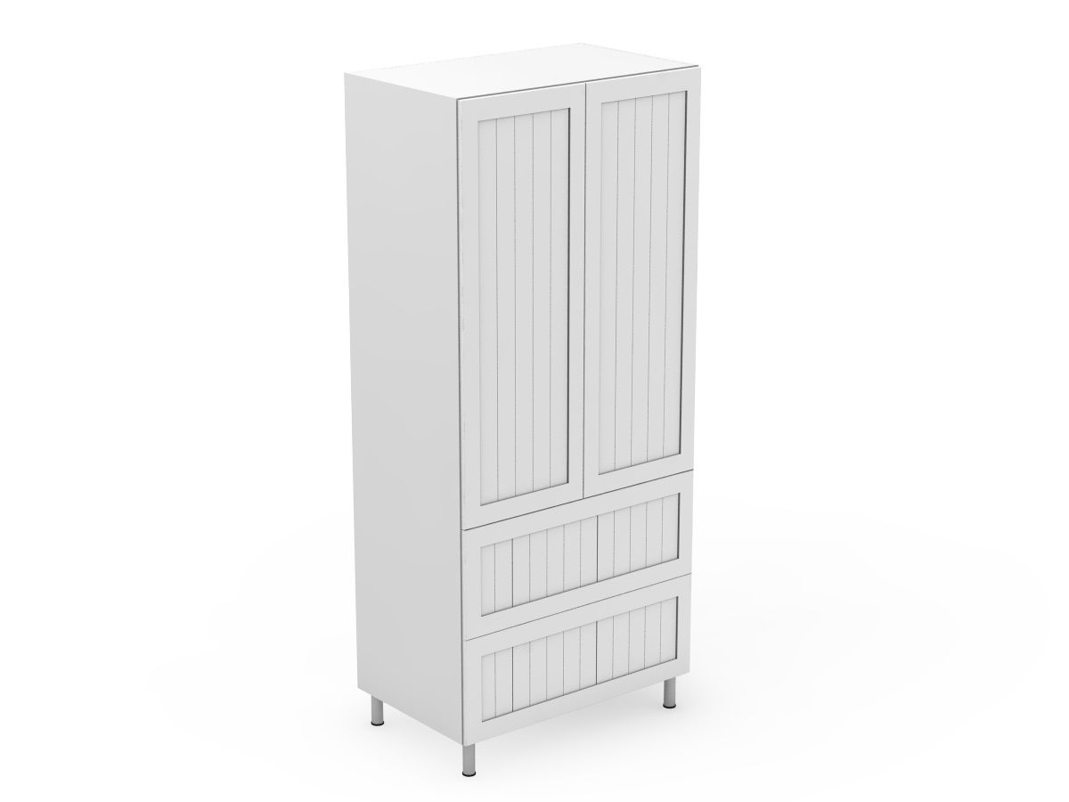 PROVINCIAL - 2 DOOR PANTRY WITH 2 POT DRAWERS (P400-22PMB)