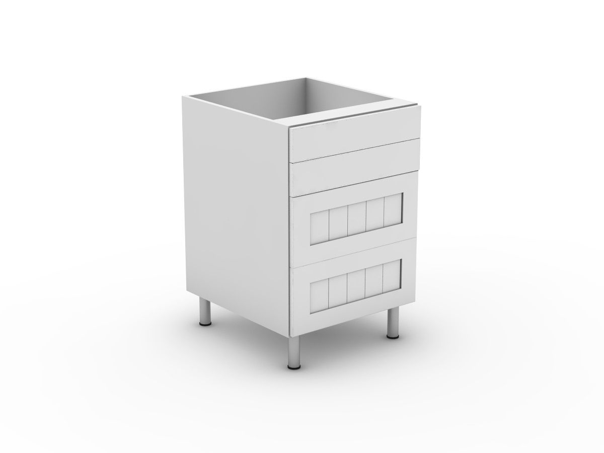 PROVINCIAL - 4 DRAWERS - 2 SMALL + 2 POT (B3002S2PMB)