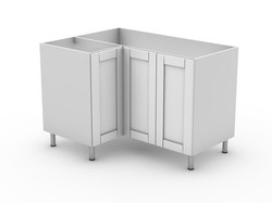 HAMPTION - BASE 3 DOOR CORNER CABINET (BCLL900 left ) (BCLR900 right)