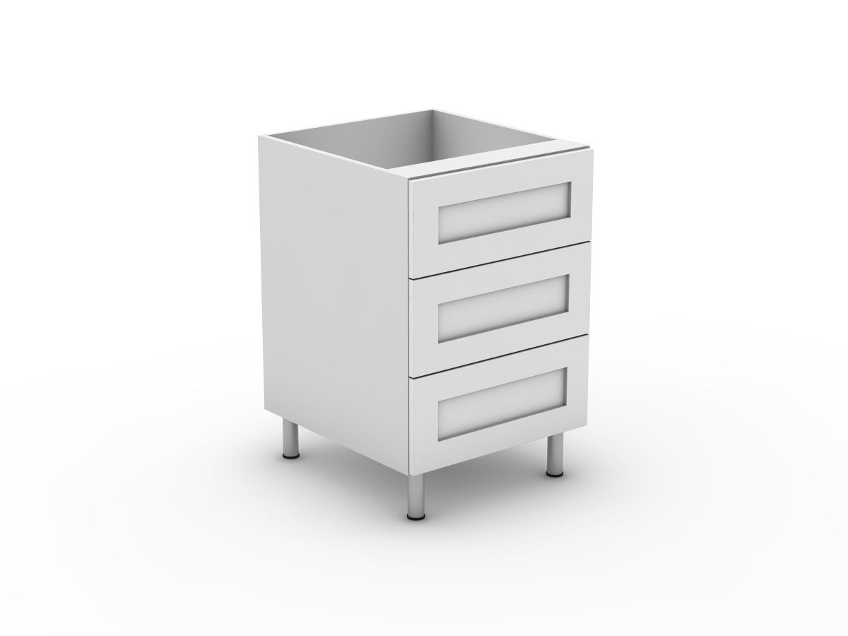 SHAKER - 3 EQUAL DRAWER (B3003EMB)