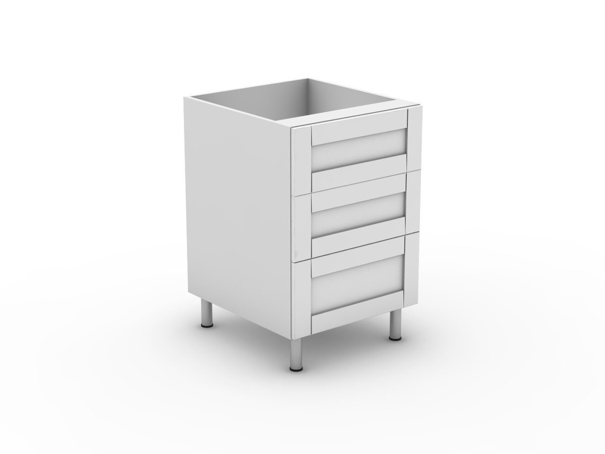 HAMPTION - 3 DRAWERS - 2 MEDIUM + 1 POT (B3002M1PMB)