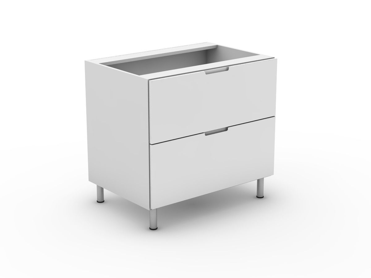 INTEGRATED HANDLE - 2 POT DRAWER BASE CABINET (B3002MB)
