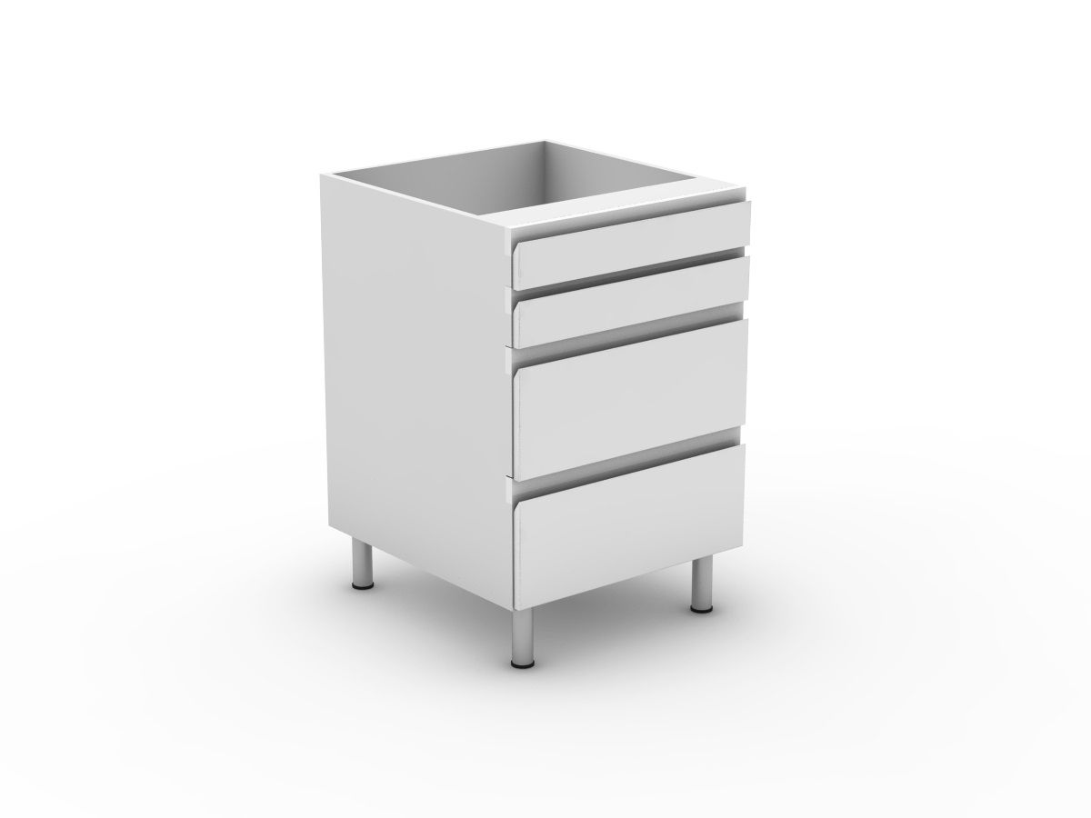 SHADOWLINE - 4 DRAWERS - 2 SMALL + 2 POT (B3002S2PMB)