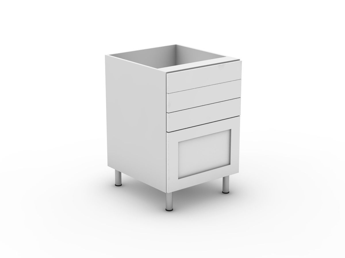SHAKER - 4 DRAWERS - 3 SMALL + 1 POT (B3003S1PMB)