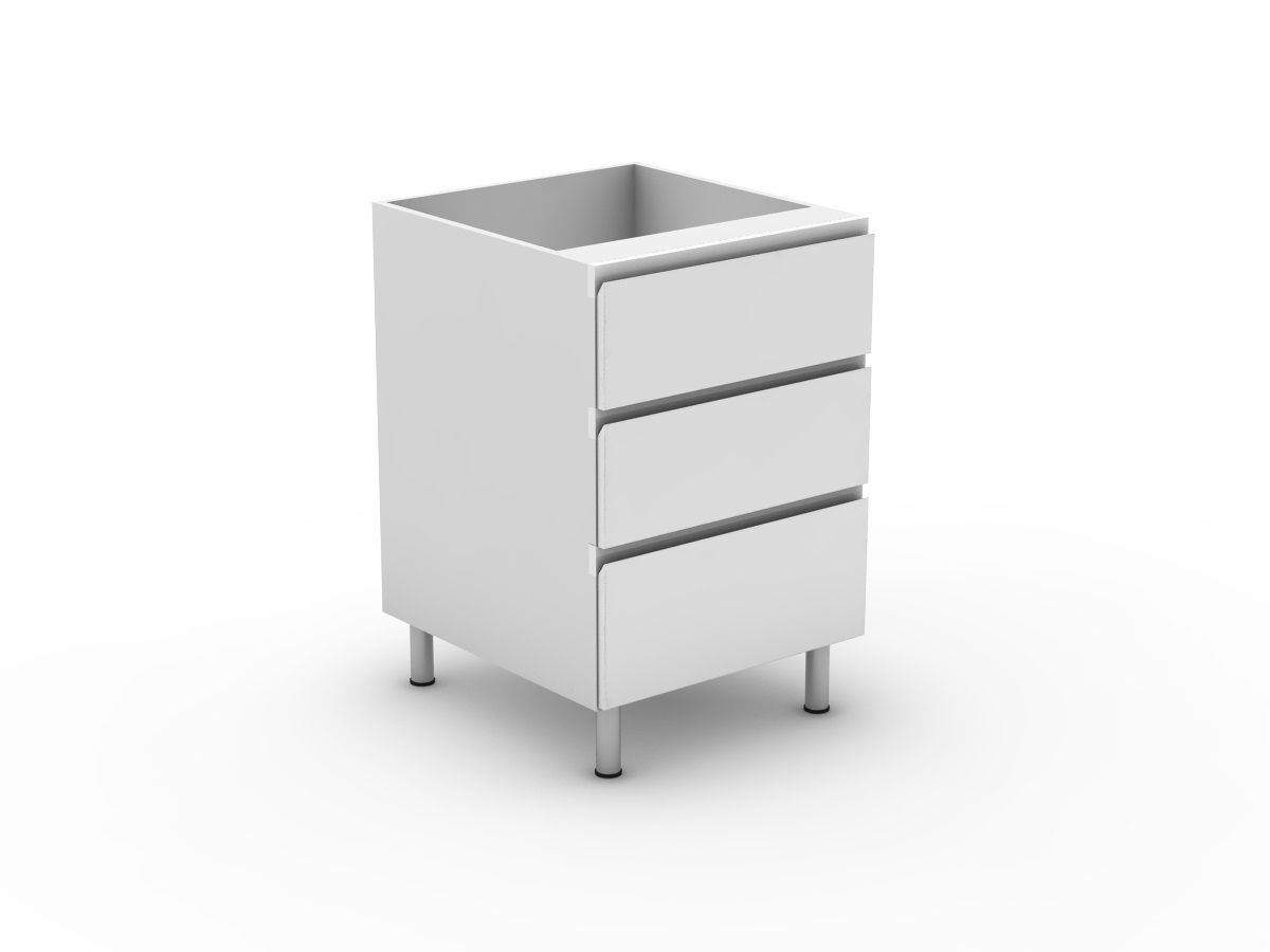 SHADOWLINE - 3 DRAWERS - 2 MEDIUM + 1 POT (B3002M1PMB)