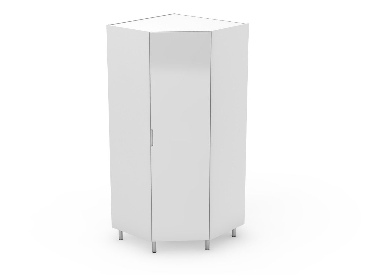 INTEGRATED HANDLE - CORNER PANTRY 1 ANGLED DOOR - SOLID BASE (CP900-1)