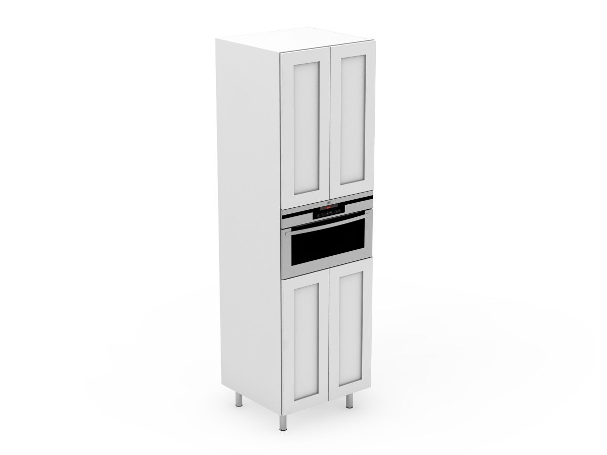 SHAKER - APPLIANCE TOWER - 4 DOORS WITH THE MICROWAVE IN THE CENTRE (AP600-4MW)