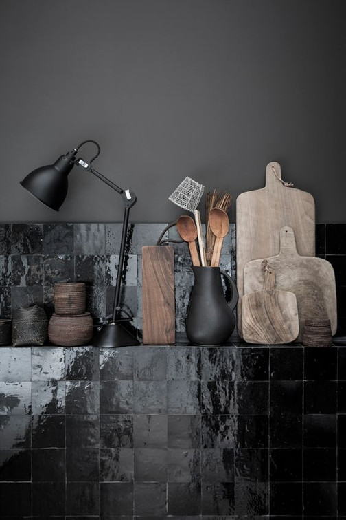 Handmade zellige black