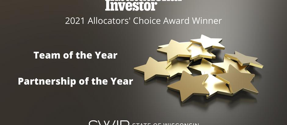 SWIB Wins Pair of Institutional Investor Allocators' Choice Awards