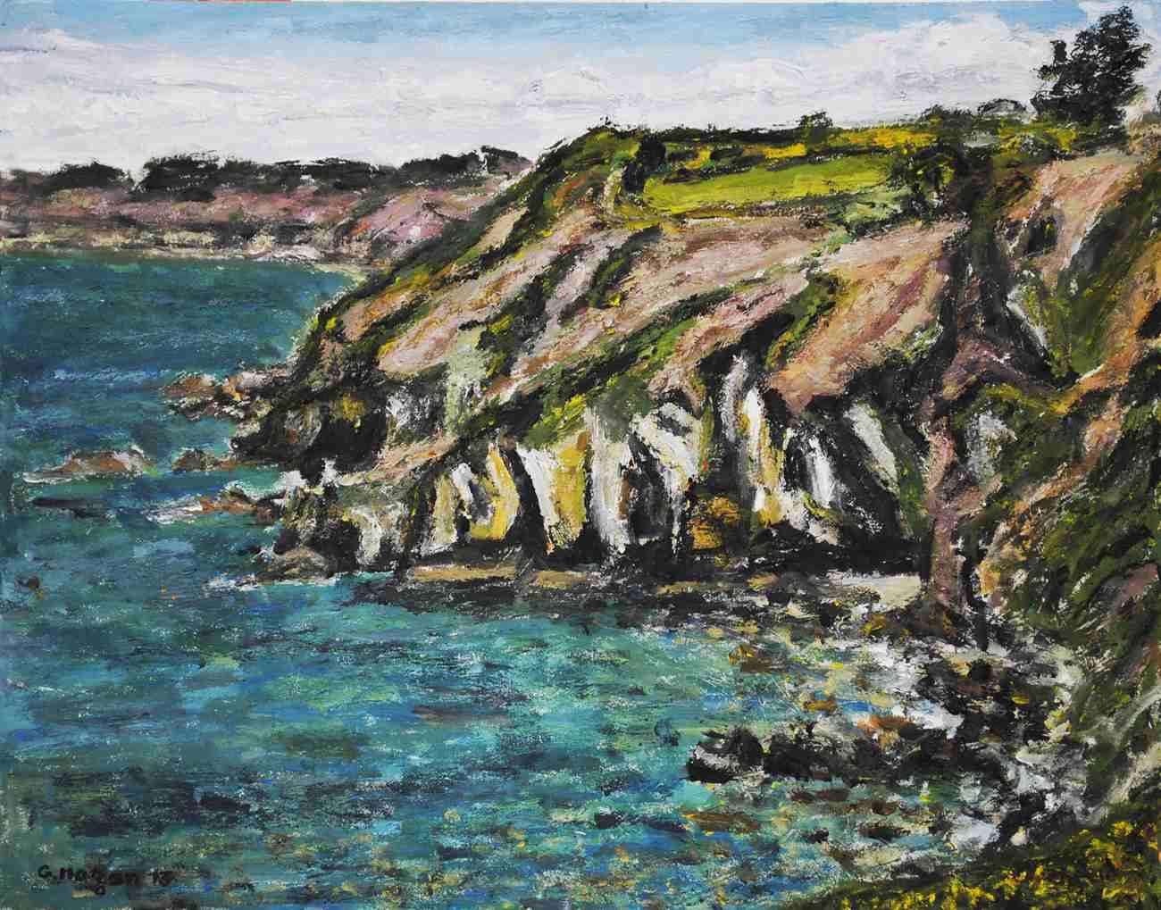 La côte près de Bréhec,étude