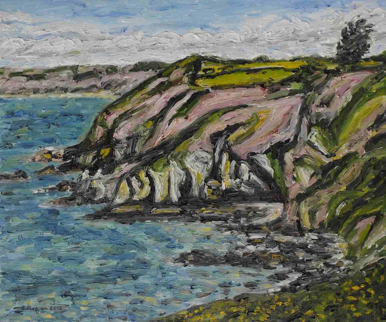 La côte près de la Pointe de la Tour
