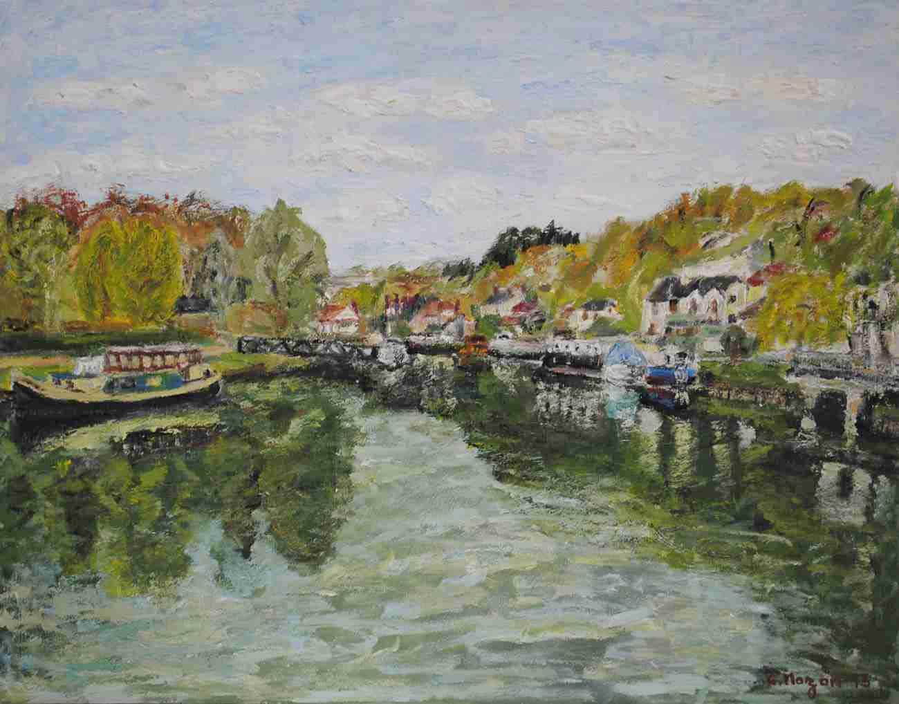 Canal du Loing, étude