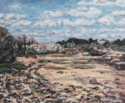 La côte à Plougrescant (épaves)