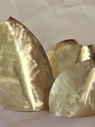 Vaso Pietra - dourado