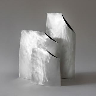 Vaso Quadrado - prata branca