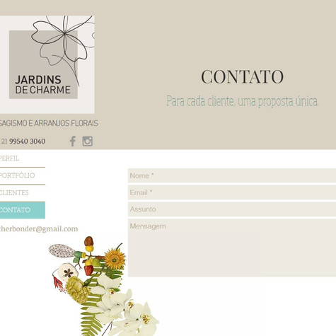 Contato - Site Jardins de Charme