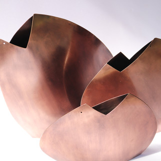 Vasos Ostra - cobre velho