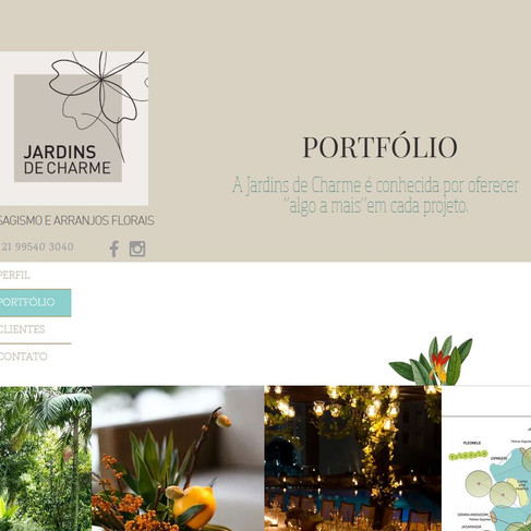 Portfólio - Site Jardins de Charme