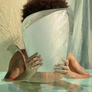 Vaso Água - prata branca