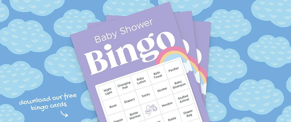 Baby shower bingo cards.