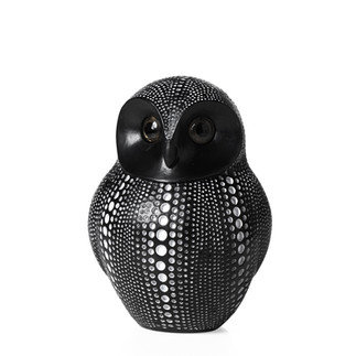 Debossed Dotted Owl Black