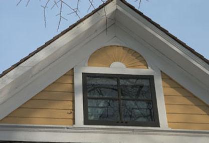 La lucarne de la maison Gabrielle Roy