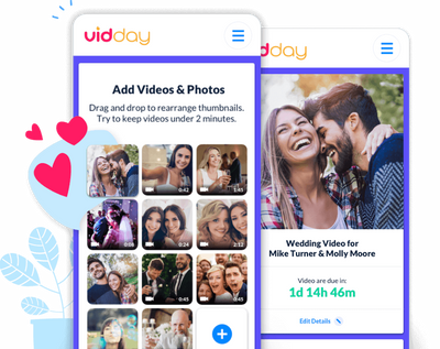 Collaborate on a wedding video to surprise the newlyweds.