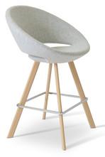 crescent sword stool- counter- natural w