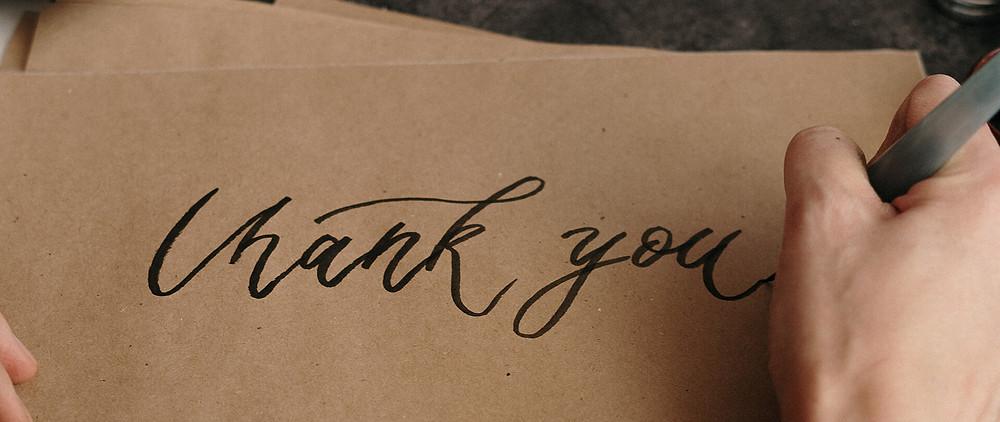 a handwritten thank you letter for teacher appreciation week