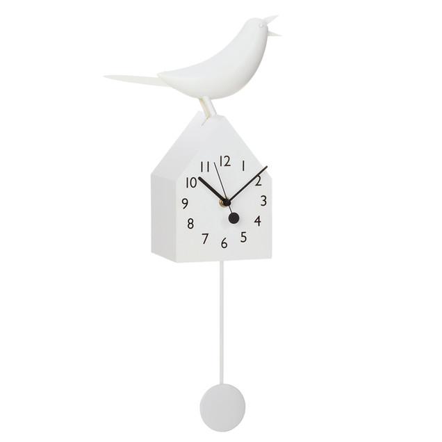 Bird House Clock White