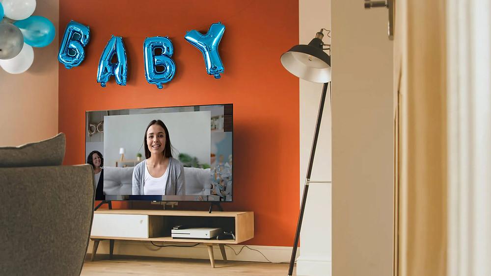 celebrating a virtual baby shower