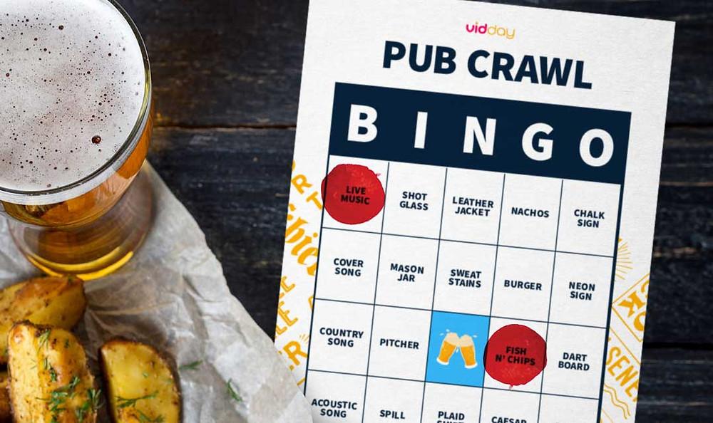 bingo pub crawl for vidday