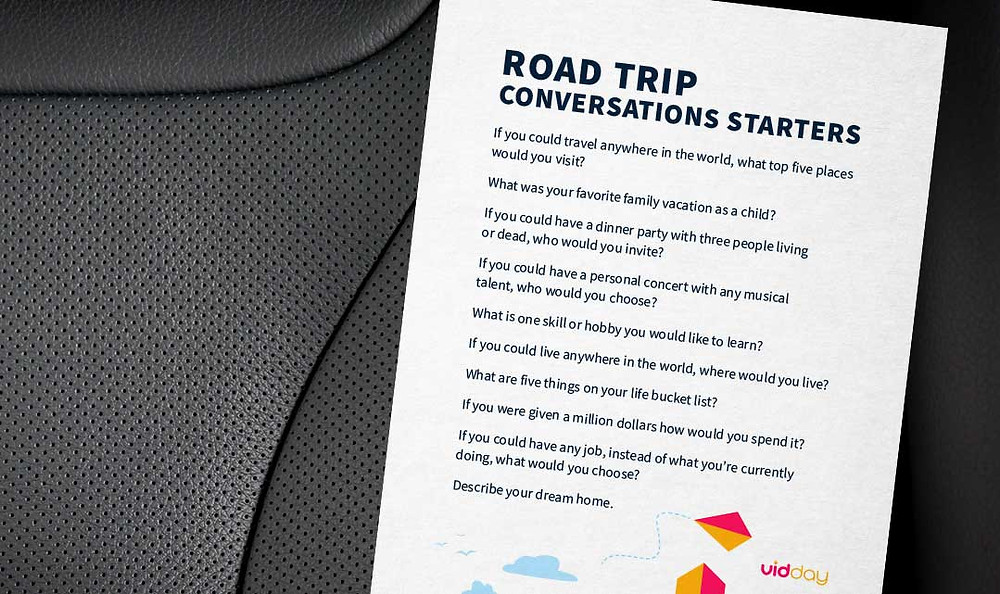 A road trip conversation starter