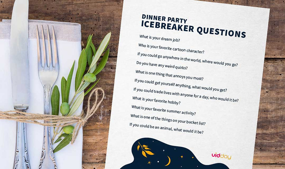 dinner party ice breaker questions