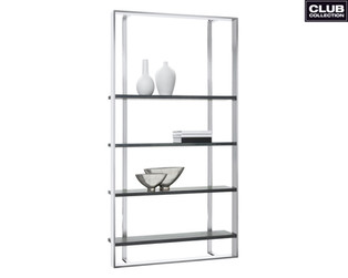 DALTON BOOKCASE - LARGE - STAINLESS STEE