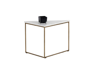 TRIBUTE END TABLE - WHITE MARBLE