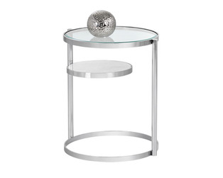 HELICA SIDE TABLE - STAINLESS STEEL