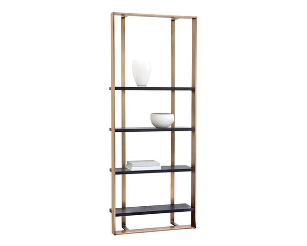DALTON BOOKCASE - SMALL - ANTIQUE BRASS