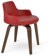 DERVISH BAR SEAT - F.SOFT RED - PLYWOOD