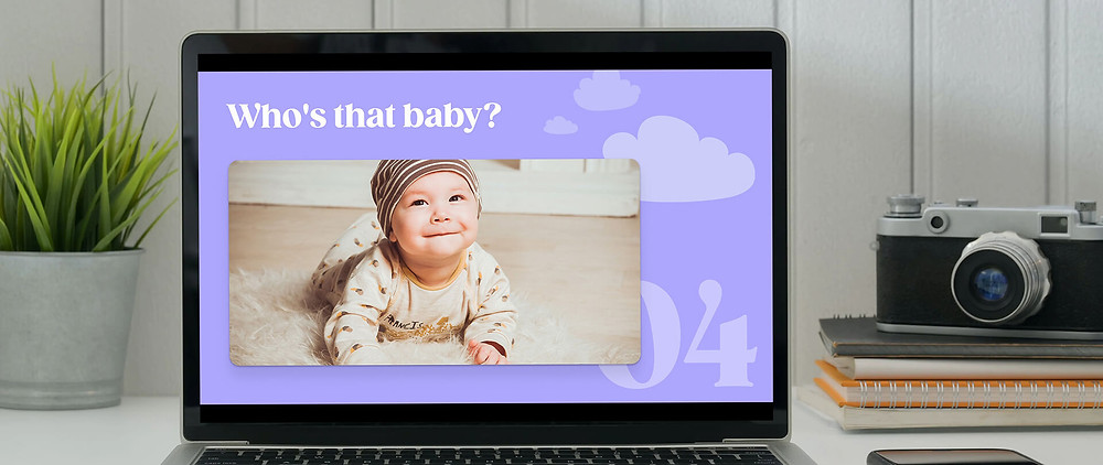A picture of a baby on a computer screen