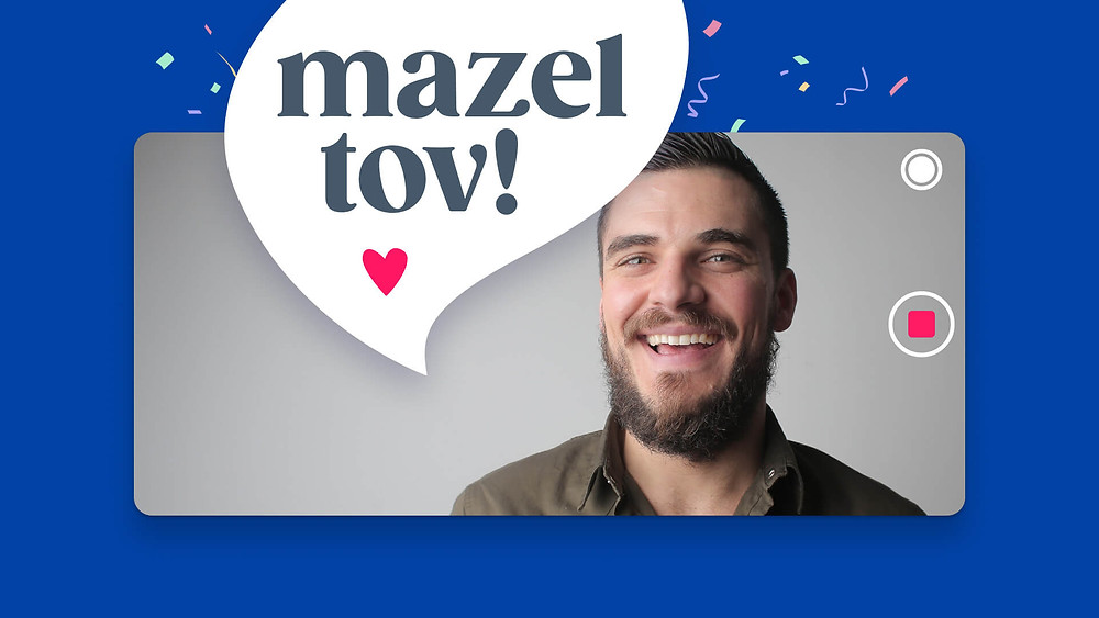 Saying Mazel tov! In a VidDay bar mitzvah video gift