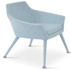 Monica Arm Chair - Smoke Blue Wool