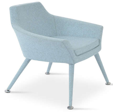 Monica Arm Chair - Smoke Blue Wool