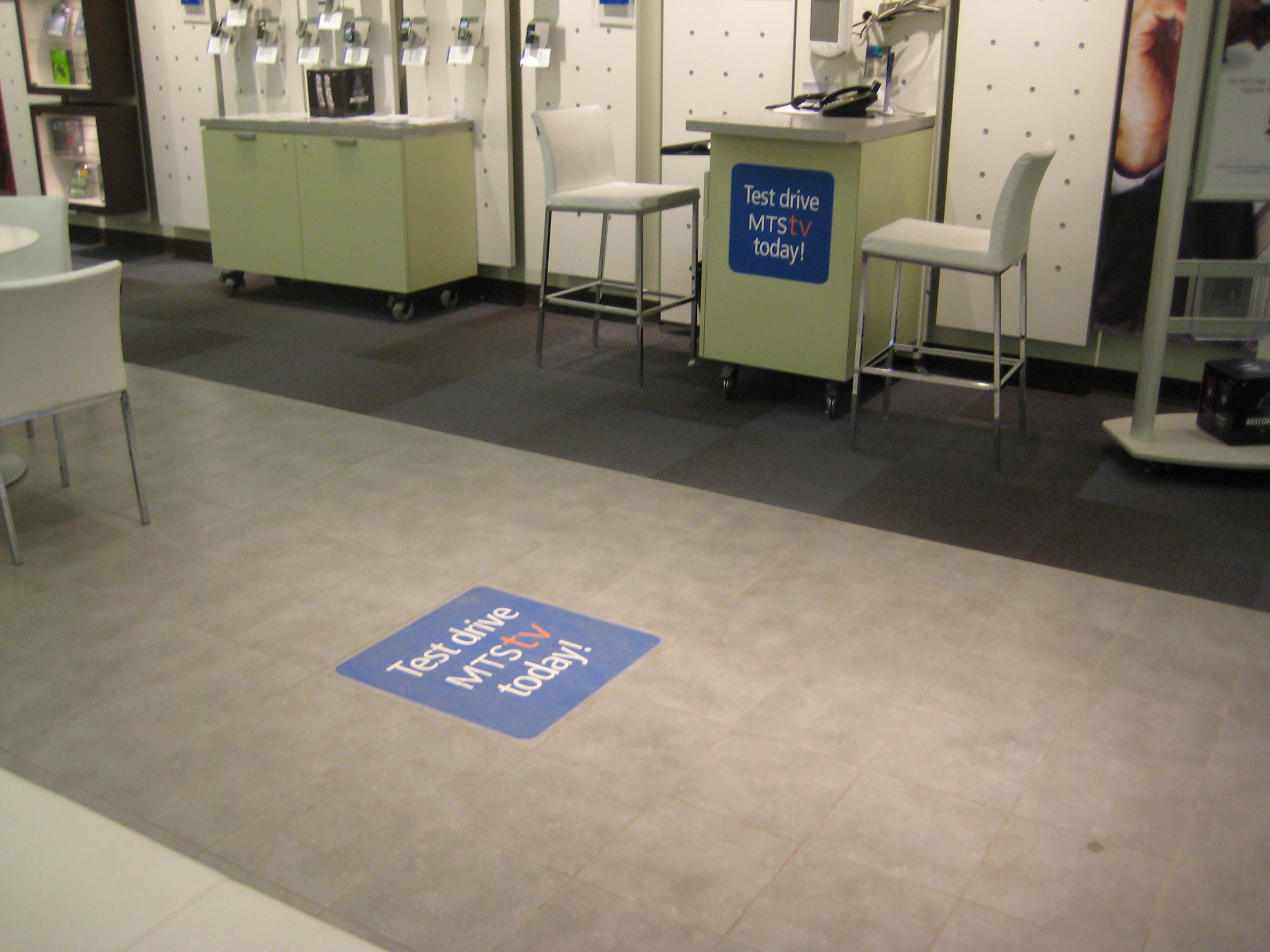 Floor & counter decals