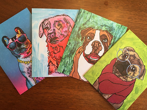 PawsAbilities Hand-Painted Cards