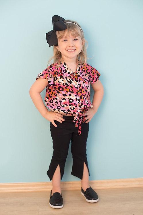 Infantil - Camisa Manga Curta Oncinha (Rosa)